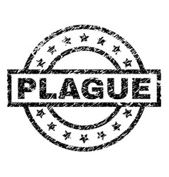 Scratched textured plague stamp seal vector