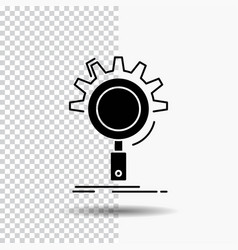 seo search optimization process setting glyph vector image