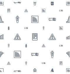 Signal icons pattern seamless white background vector
