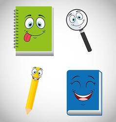 Smiley faces design vector