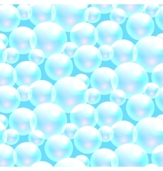 soap bubbles blue seamless pattern vector image