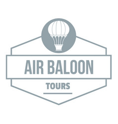 tours air balloon logo simple gray style vector image