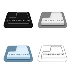 translate button icon in cartoon style isolated on vector image