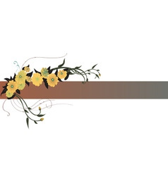 vector illustraition of elegant floral border vector image