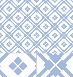 Vintage Blue Western seamless pattern vector image