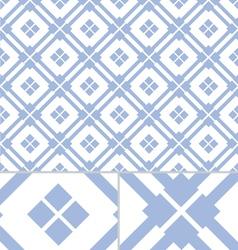 Vintage Blue Western seamless pattern vector