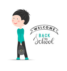 welcome back to school background with vector image