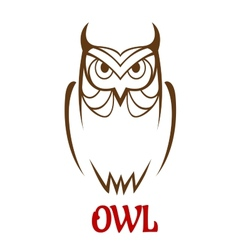 Wise old owl sketch vector image