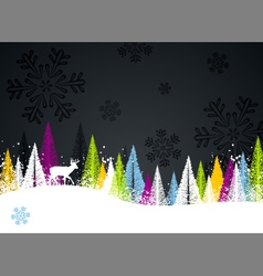 dark winter background vector image vector image