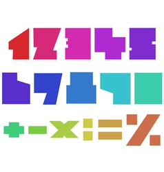 square numbers vector image vector image