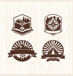 a set of logos of the christian camp vector image vector image