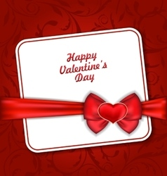 Beautiful Greeting Card for Valentines Day vector image vector image