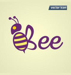 bee phrase cion vector image