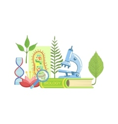 Biology Class Set Of Objects vector image vector image
