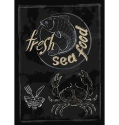 fresh sea food vector image