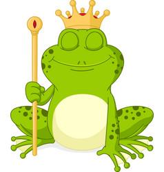 prince frog cartoon vector image