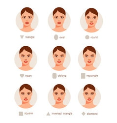 Set of different woman faces vector image