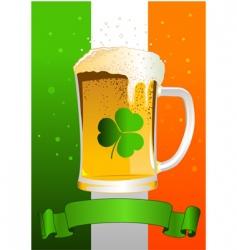 St Patrick's day celebration background vector image vector image