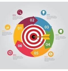 Business target infographic dart board arrow vector image vector image
