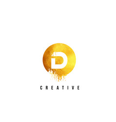 d gold letter logo design with round circular vector image vector image