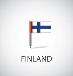 finland flag pin vector image vector image