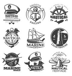 Nautical Emblem Set vector image vector image
