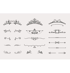 Set of headers and border elements vector image vector image