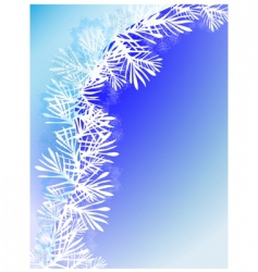 winter background with snow branch vector image