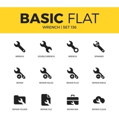 Basic set of Wrench icons vector image