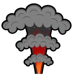 Cartoon explosion eps10 vector image vector image
