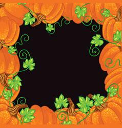 Halloween background frame vector