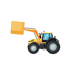 Agriculture tractor hay loader vector