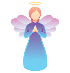 angel praying on white vector image
