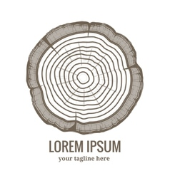 Annual tree growth rings logo icon vector image