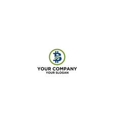 B coin way logo design vector