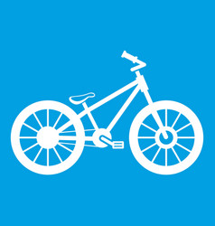 bike icon white vector image
