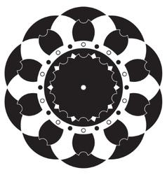 Black and white mandala vector