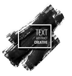 black ink stroke background design vector image