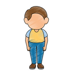 boy stand up vector image