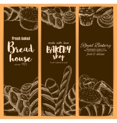 Bread house banners for bakery shop sketch vector