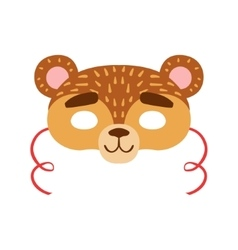 Brown Bear Animal Head Mask Kids Carnival vector