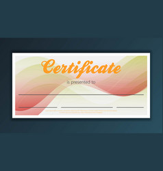 certificate background modern flat style vector image