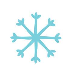 christmas snow icon flat vector image