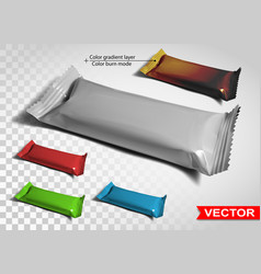 color blank polyethylene package for snack product vector image