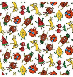 Crazy fruit pattern vector