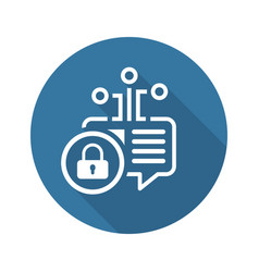 Crypto message icon vector