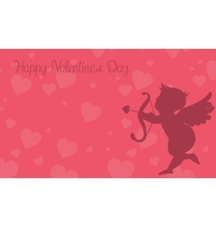 Cupid background for valentine day vector