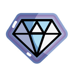 Cute diamond luxury accessory gem vector
