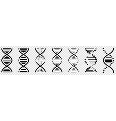 dna icons set pictograph of symbol vector image