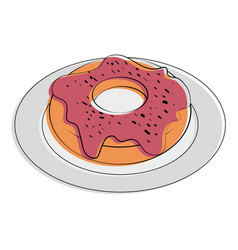 Donut pastry food related image vector